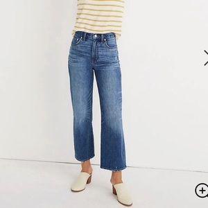 Madewell ultra high rise wide leg pants